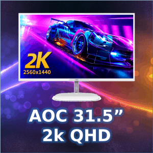 "AOC 31.5"" 2k QHD monitor we sell in Wagga"