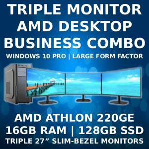 Triple Monitor Business Machine with WIndows 10 Pro