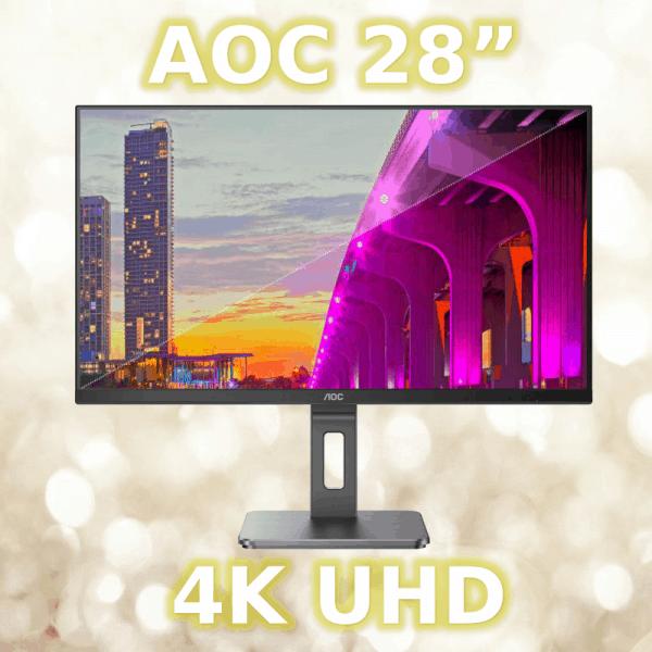 "AOC 28"" 4K monitor"